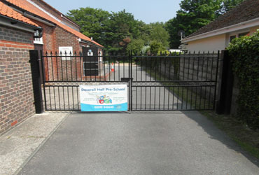 Gates to rear car park area